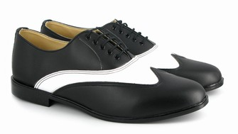 Vegan men's two-tone Oxford shoes