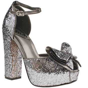 Glitter madness hot vegan platforms with bows