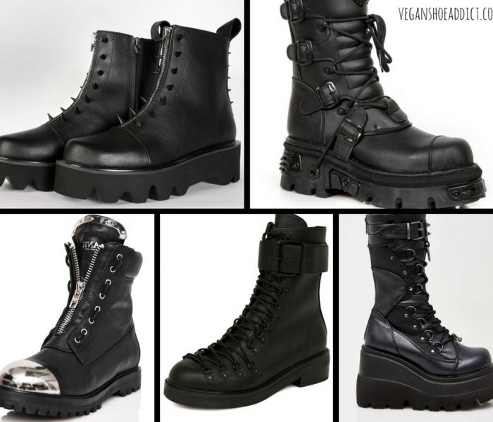 Five Kickass Black Vegan Boots