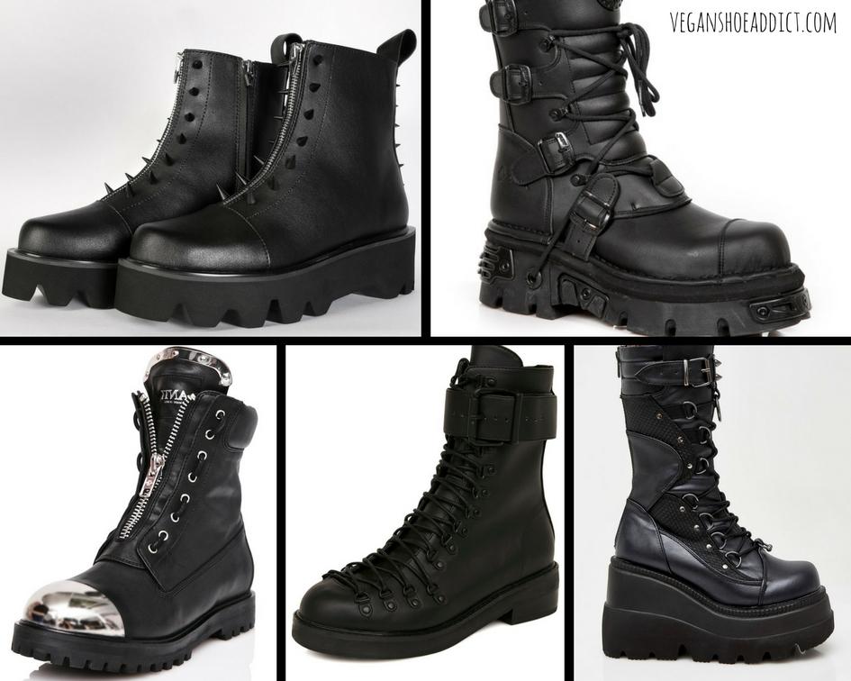 Five Kickass Black Vegan Boots